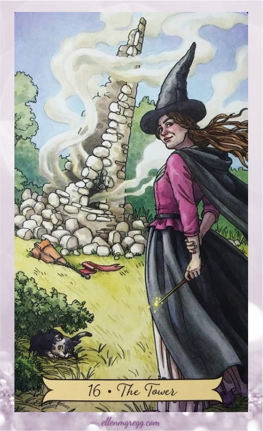 Daily Divination: 20 May, 2017 ~ The Tower from Everyday Witch Tarot by Deborah Blake, with art by Elisabeth Alba, published by Llewellyn.