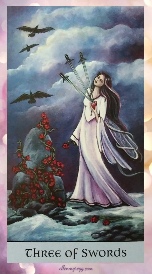 Daily Divination: 24 May, 2017 ~ Three of Swords from Crystal Visions Tarot, created by Jennifer Galasso, published by U.S. Games Systems, Inc.