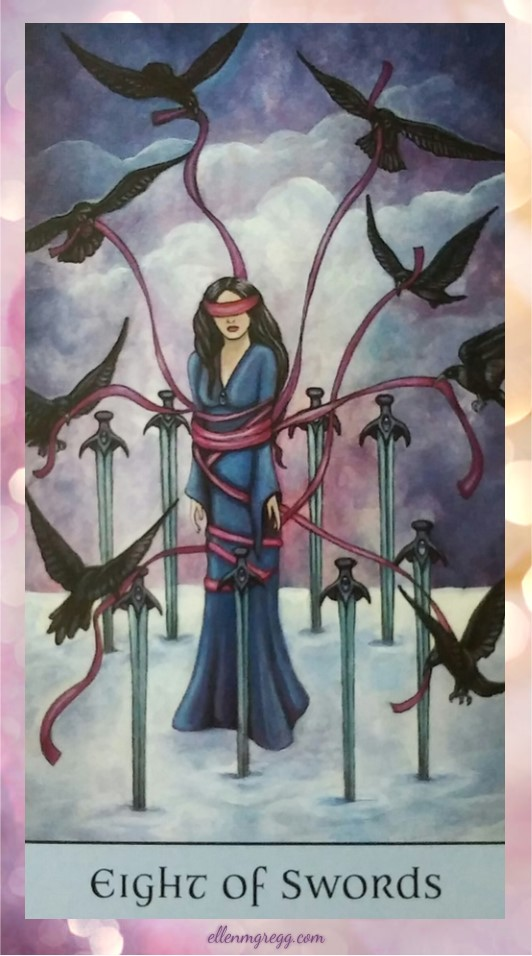 Daily Divination: 27 May, 2017 ~ Eight of Swords from Crystal Visions Tarot, created by Jennifer Galasso, published by U.S. Games Systems, Inc.