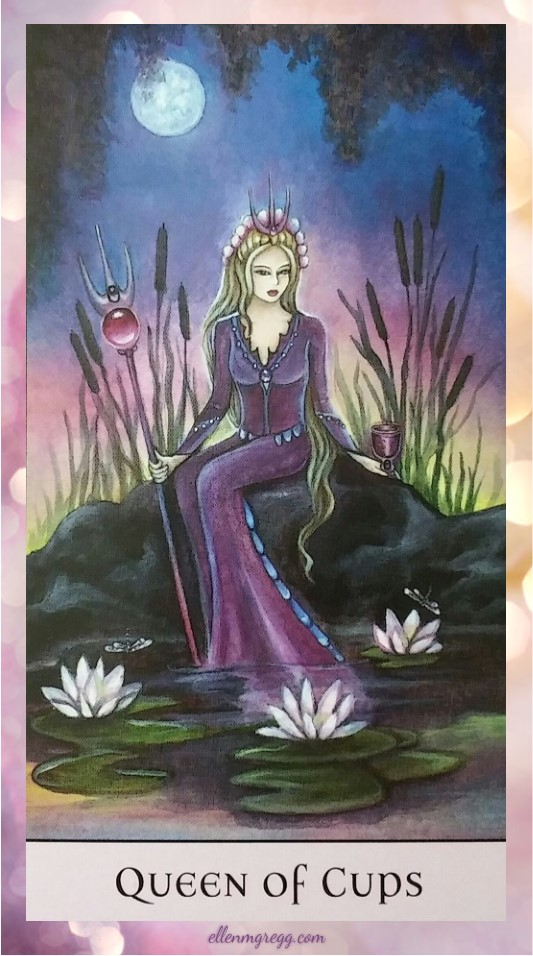 Daily Divination: 28 May, 2017 ~ Queen of Cups from Crystal Visions Tarot, created by Jennifer Galasso, published by U.S. Games Systems, Inc.