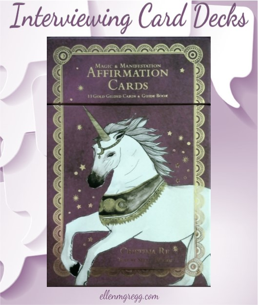 Interviewing Magic & Manifestation Affirmation Cards by Cristina Re, with text by Stella Woods. Published by Cristina Re.