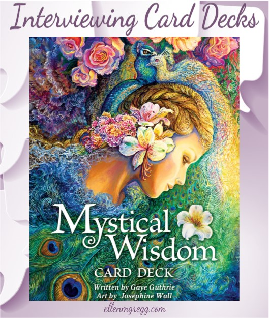 Interviewing Mystical Wisdom card deck written by Gaye Guthrie with art by Josephine Wall, published by U.S. Games Systems Inc.