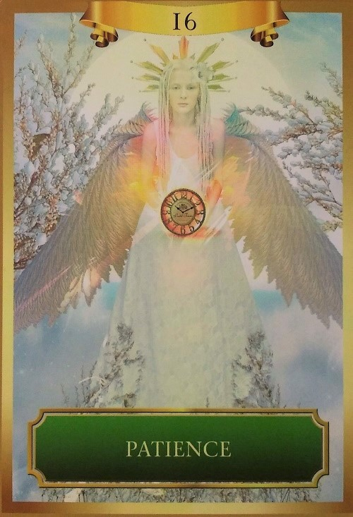 Patience ~ Energy Oracle Cards created by Sandra Anne Taylor and Jena DellaGrottaglia, published by Hay House Lifestyles.