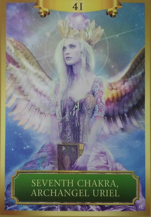 Seventh Chakra, Archangel Uriel ~ Created by Sandra Anne Taylor and Jena DellaGrottaglia, published by Hay House Lifestyles.
