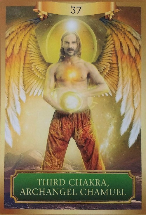 Third Chakra, Archangel Chamuel ~ Energy Oracle Cards by Sandra Anne Taylor and Jena DellaGrottaglia, published by Hay House Lifestyles.