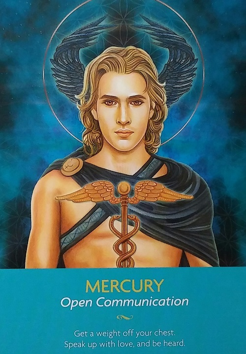 Mercury ~ Keepers of the Light, created by Kyle Gray, artwork by Lily Moses, published by Hay House LifeStyles.