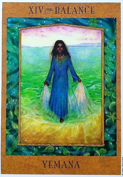 Balance: Yemana ~ The Goddess Tarot, created by Kris Waldherr, published by U.S. Games Systems, Inc.