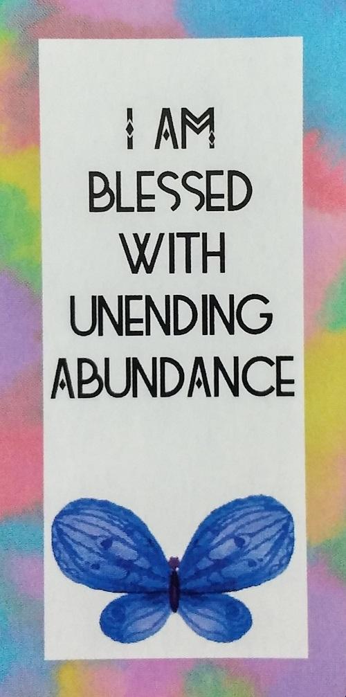 I Am Blessed With Unending Abundance ~ Money Magic Manifestation Cards created and published by Ethony Dawn