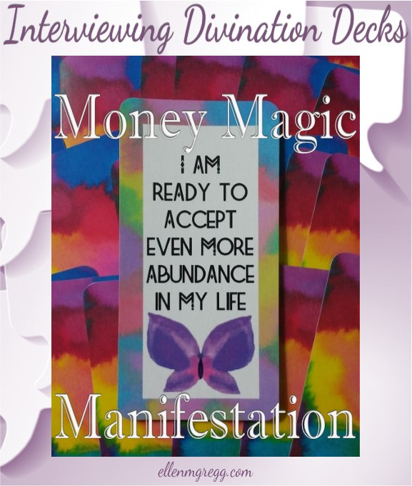Interviewing Money Magic Manifestation Cards, created and published by Ethony Dawn.