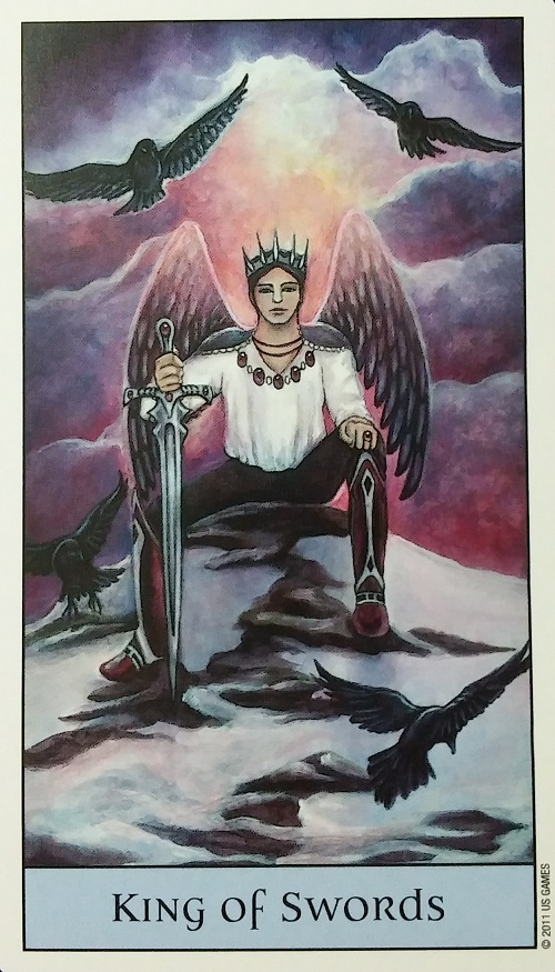 King of Swords ~ Crystal Visions Tarot, created by Jennifer Galasso, published by U.S. Games Systems, Inc.
