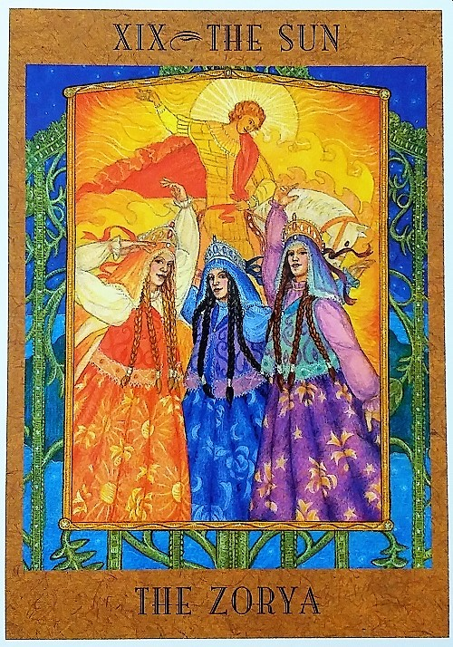 The Sun: The Zorya ~ The Goddess Tarot, created by Kris Waldherr, published by U.S. Games Systems, Inc.