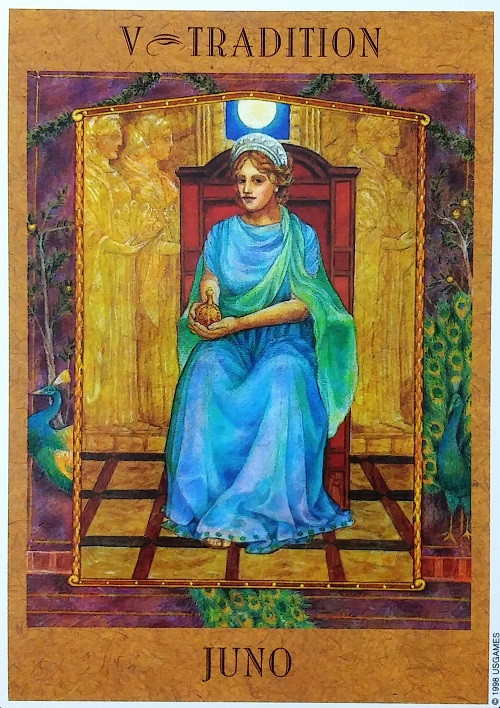 Tradition: Juno ~ The Goddess Tarot, created by Kris Waldherr, published by U.S. Games Systems, Inc.
