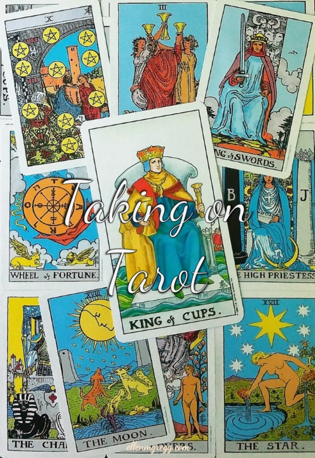 King of Cups ~ Taking On Tarot self-study of the Universal Waite Tarot deck, created by Stuart P. Kaplan, drawings by Pamela Colman Smith, recolored by Mary Hanson-Roberts, published by U.S. Games Systems, Inc.