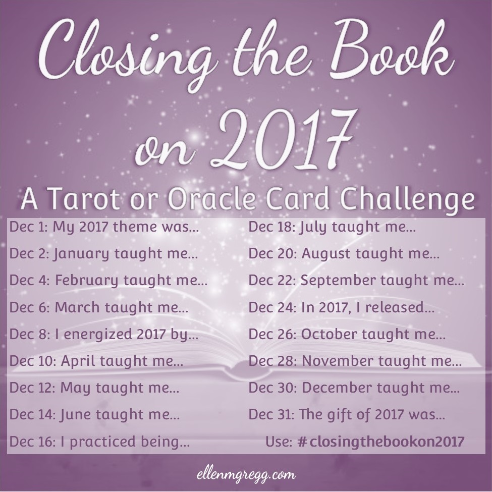 Closing the Book on 2017 Instagram challenge. (Makes an excellent source for journaling prompts.) ~ Intuitive Ellen