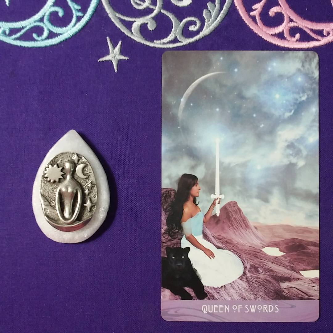 The Truth Will Rise ~ A post by Ellen M. Gregg :: Intuitive ~ Queen of Swords from The Starchild Tarot Akashic