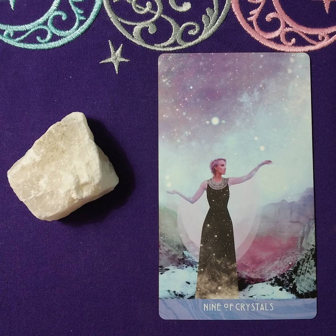 Financial Uncertainty ~ A post by Ellen M. Gregg :: Intuitive ~ Nine of Crystals from The Starchild Tarot Akashic