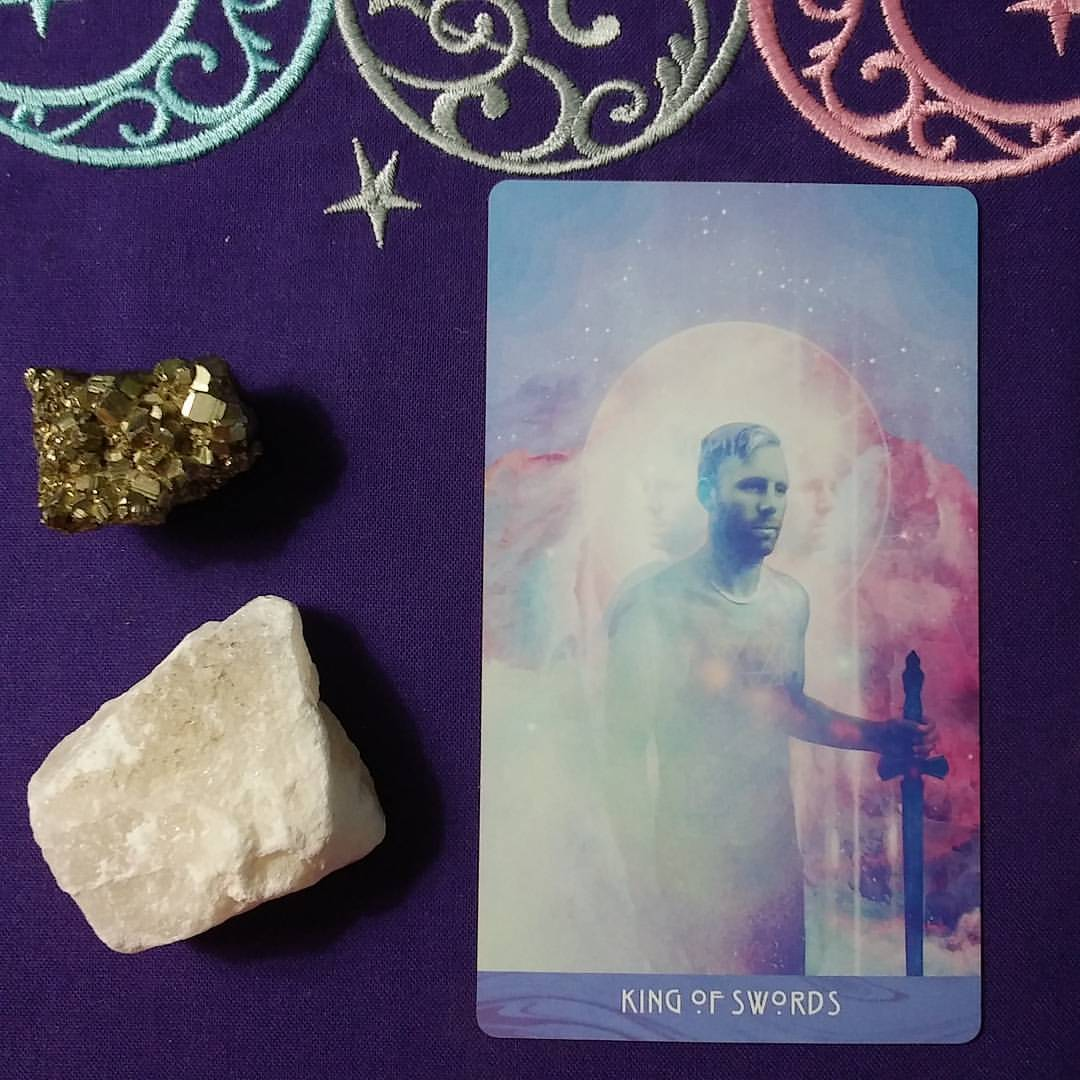 Communicating from the Soul ~ A post by Ellen M. Gregg :: Intuitive ~ King of Swords from The Starchild Tarot Akashic