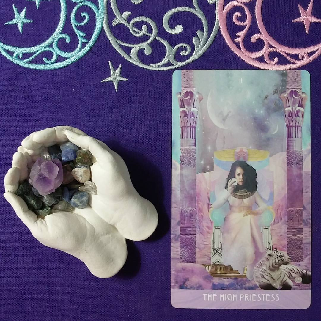 High Priestess Energy ~ A post by Ellen M. Gregg :: Intuitive ~ The High Priestess from The Starchild Tarot Akashic
