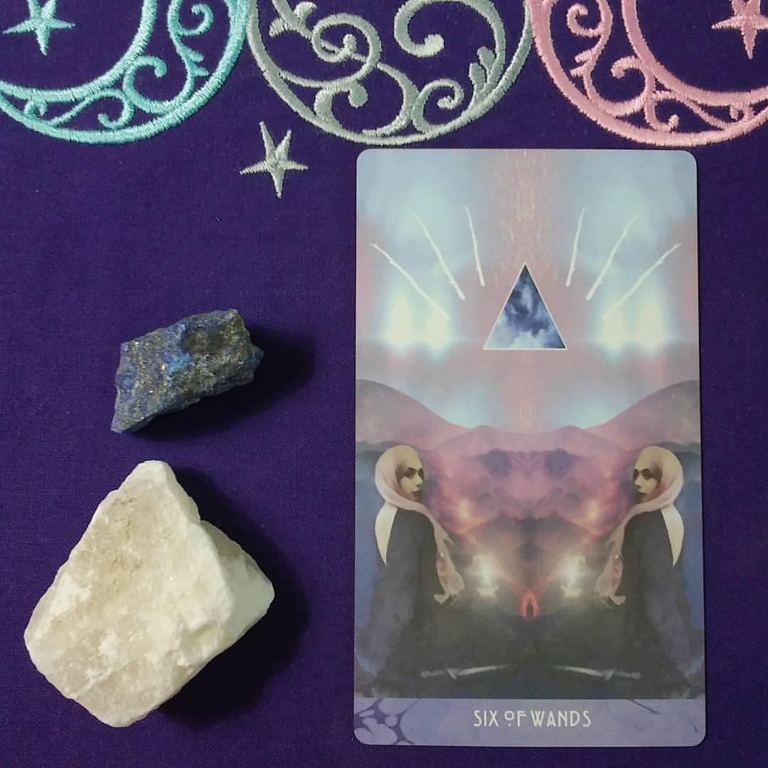 Creative Fire ~ A post by Ellen M. Gregg :: Intuitive ~ Six of Wands from The Starchild Tarot Akashic