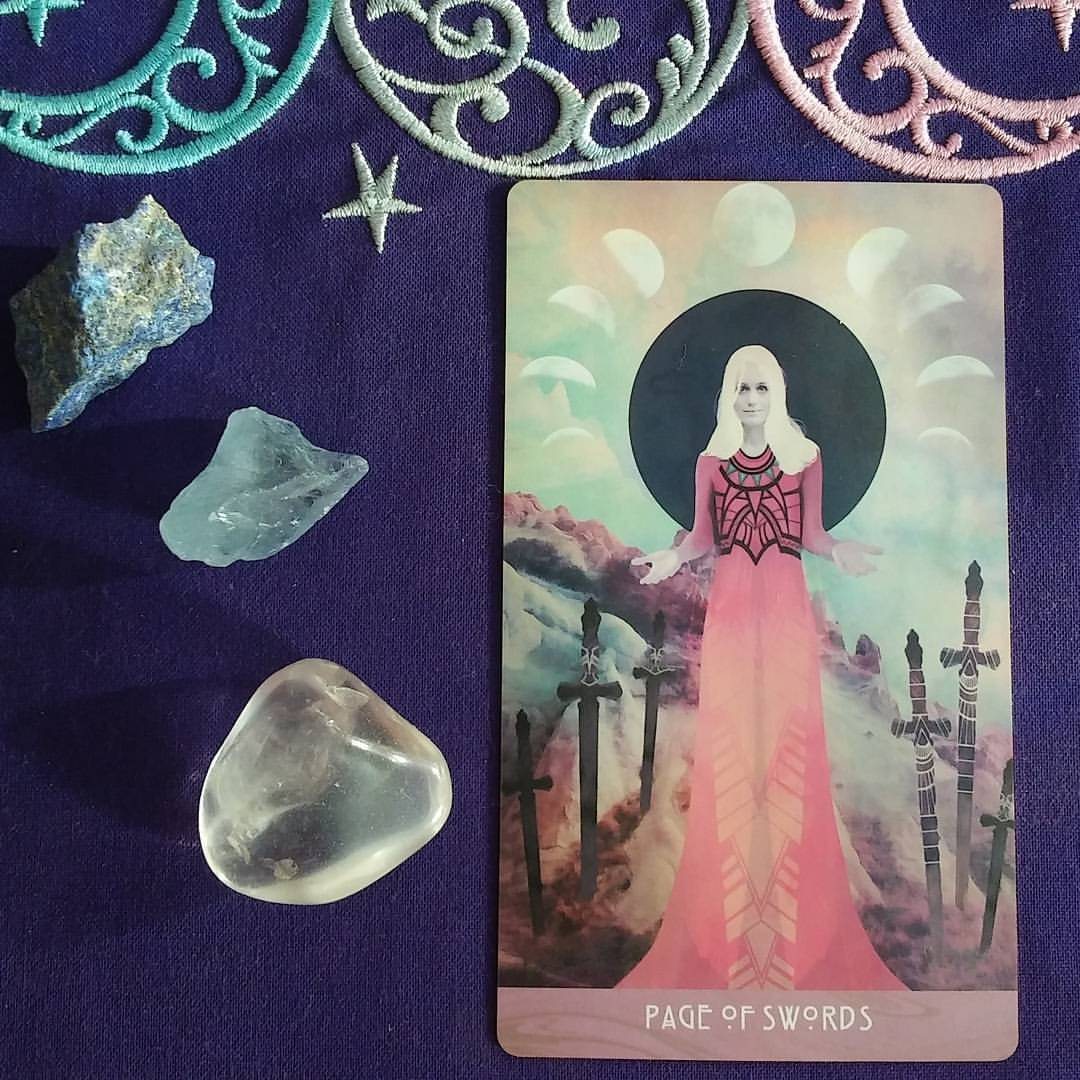Receive a Message ~ A post by Ellen M. Gregg :: Intuitive ~ Page of Swords from The Starchild Tarot Akashic
