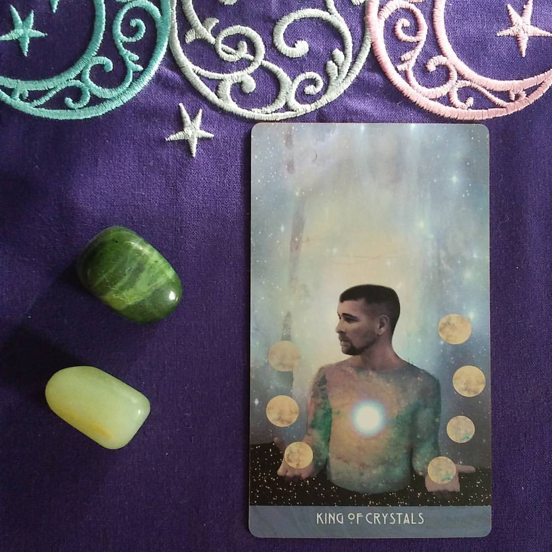 Sacred Reality ~ A post by Ellen M. Gregg :: Intuitive ~ King of Crystals from The Starchild Tarot Akashic