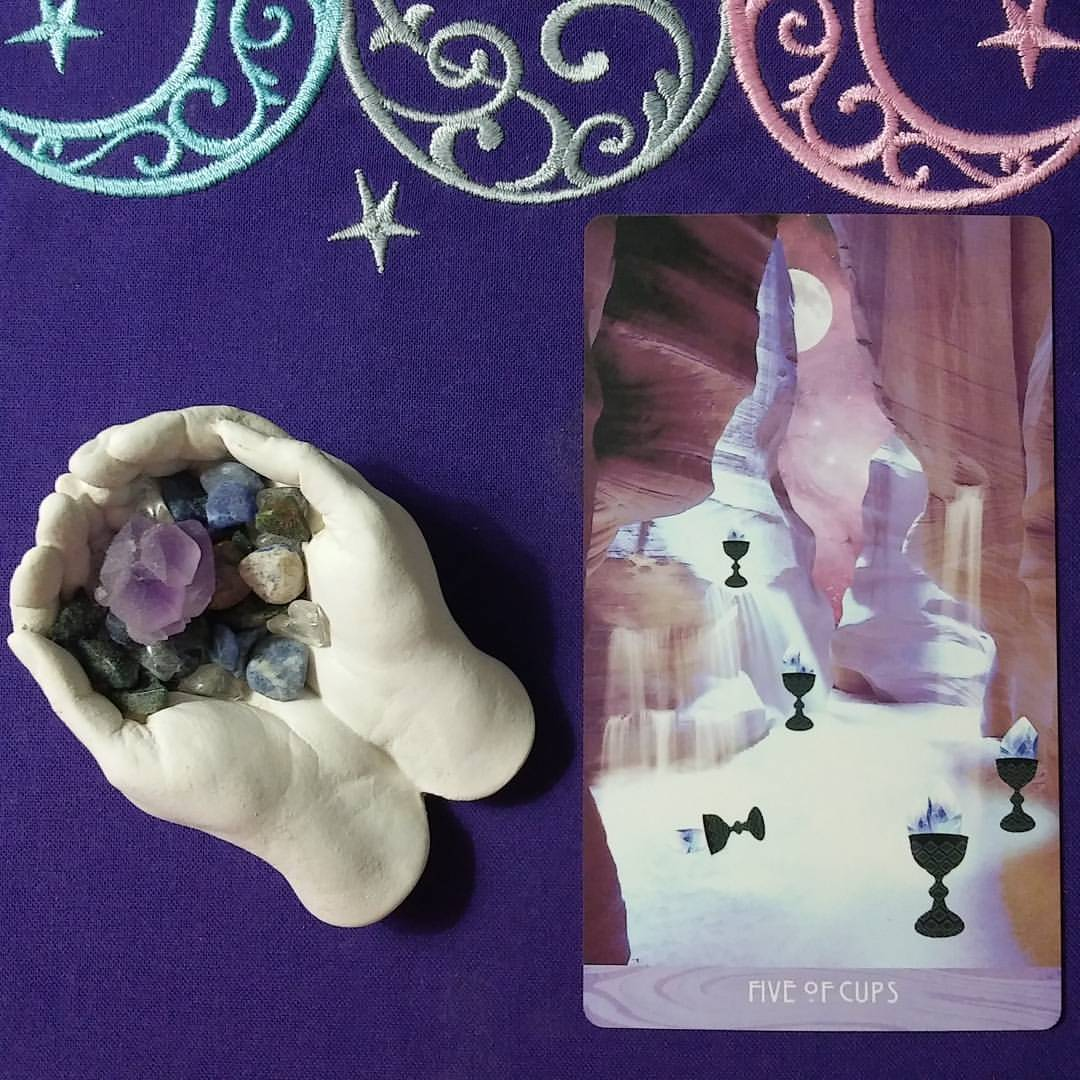 Catch and Release ~ A post by Ellen M. Gregg :: Intuitive ~ Five of Cups from The Starchild Tarot Akashic