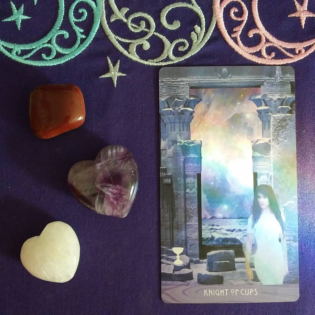 Energy of Love ~ A post by Ellen M. Gregg :: Intuitive ~ Knight of Cups from The Starchild Tarot Akashic