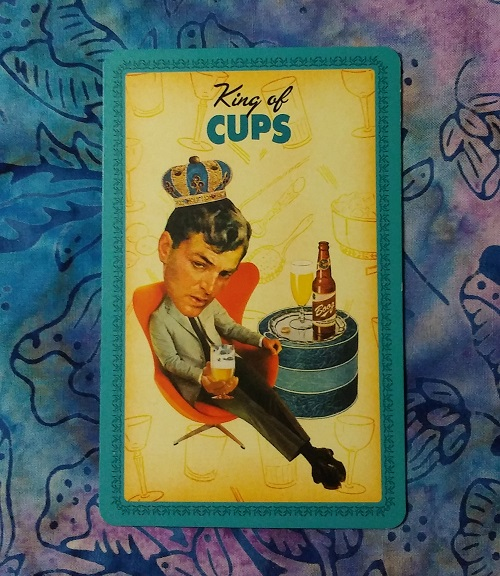 What's Up Energetically: Week of 15 October, 2018 ~ A blog post by Intuitive Ellen :: Ellen M. Gregg ~ King of Cups from The Housewives Tarot deck ~ #energyreading #tarotreading