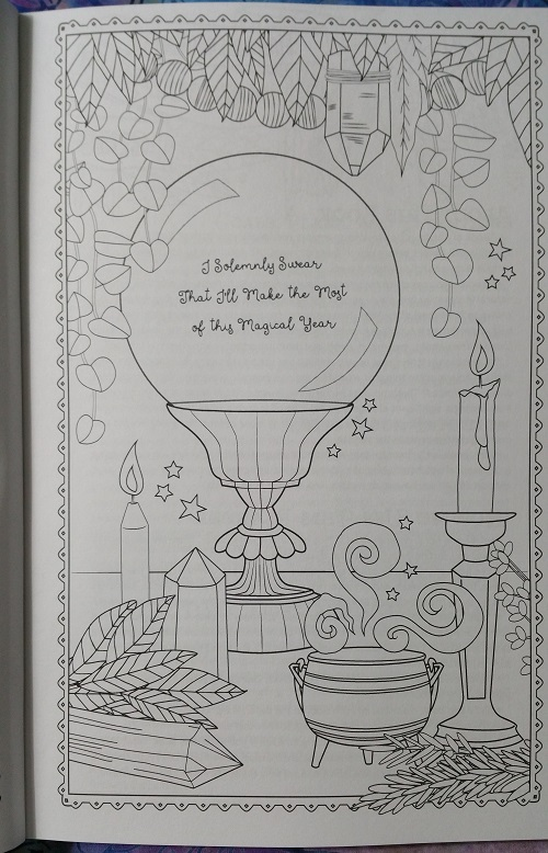 I Solemnly Swear That I'll Make the Most of this Magical Year :: Coloring Book of Shadows: Planner for a Magical 2019