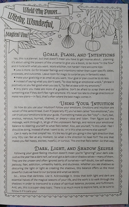 Wield Thy Power... Witchy, Wonderful, Magical You! :: Coloring Book of Shadows: Planner for a Magical 2019