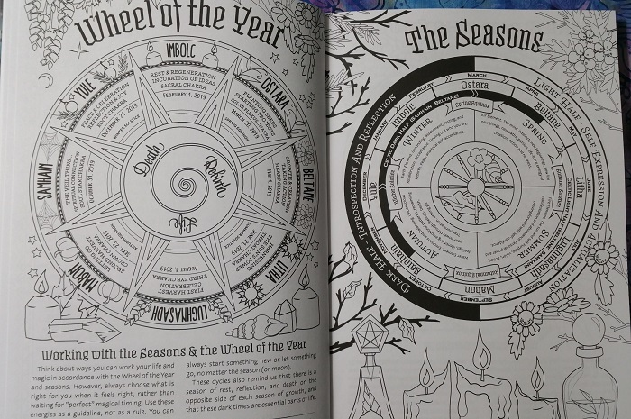 Wheel of the Year / The Seasons :: Coloring Book of Shadows: Planner for a Magical 2019