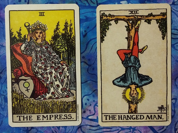 Energyscope for 2019: Keys 3 (The Empress) and 12 (The Hanged Man) ~ a post by Ellen M. Gregg :: Intuitive Ellen