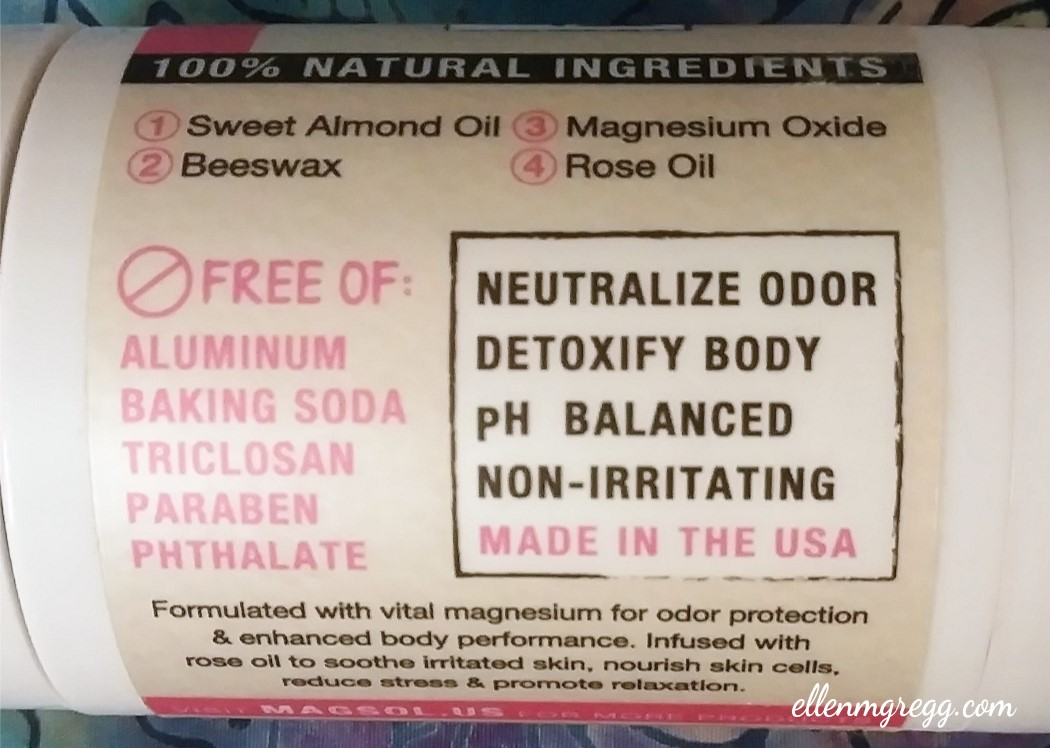 A Review and an Update: MagSol Magnesium Deodorant (Detail) | Ellen M. Gregg :: Intuitive :: The Soul Ways