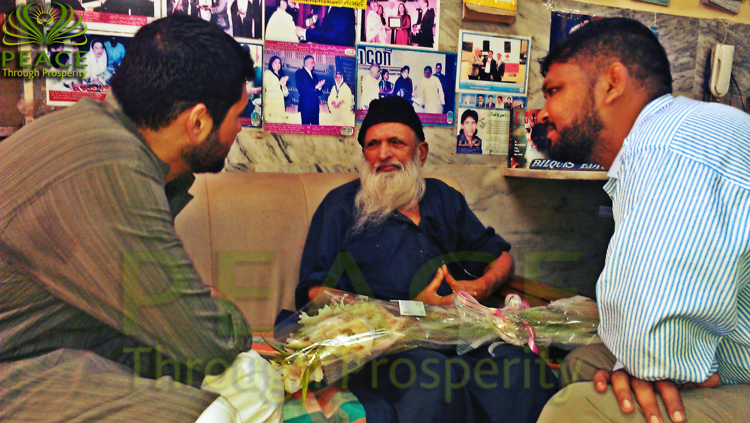 Peace Through Prosperity 's team benefiting from the icon of Pakistan - Abdul Sattar Edhi