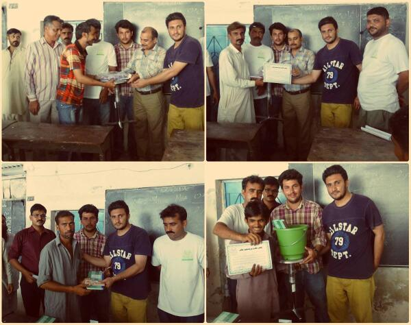 Participants being awarded after successfully completing 5 day mini-MBA program