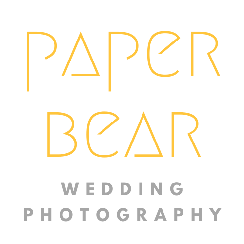 paper bear wedding photography
