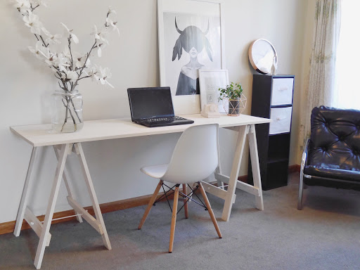 DIY Trestle Desk