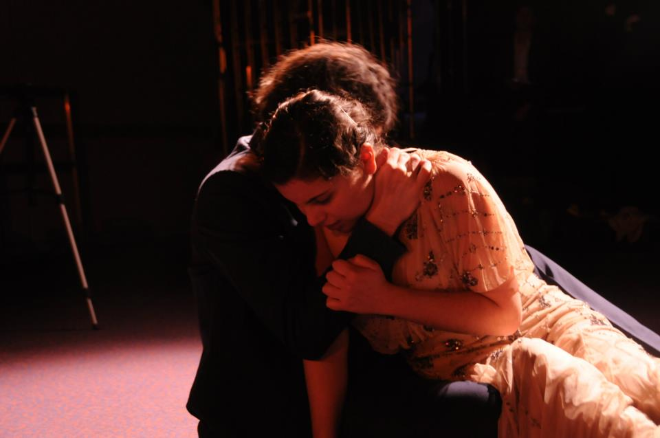 Caterina Giammerresi (Portia) and Chris Cannell (Brutus)