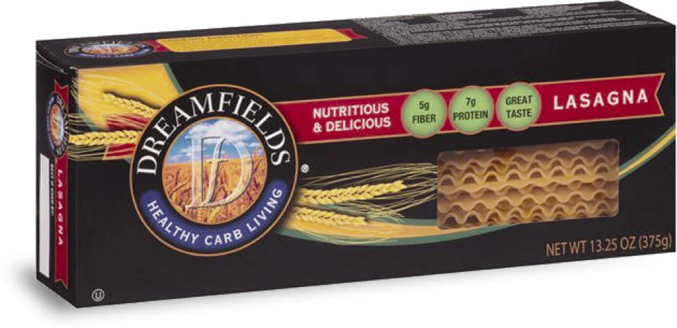 dreamfields pasta lasagna in a box