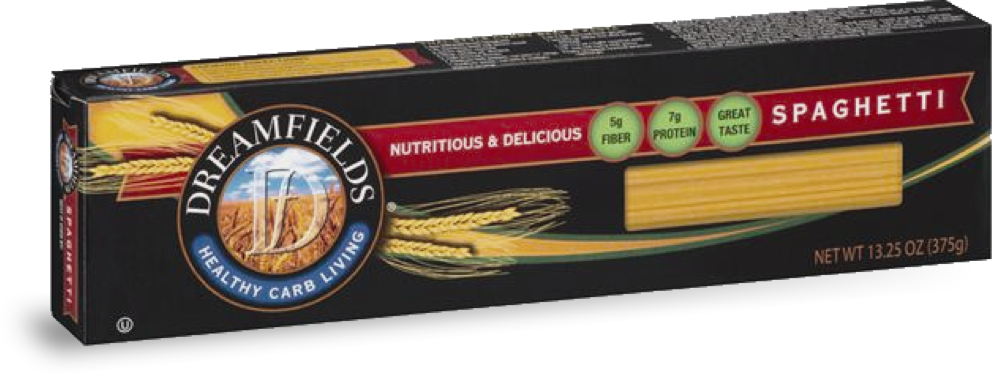 dreamfields pasta spaghetti in a box