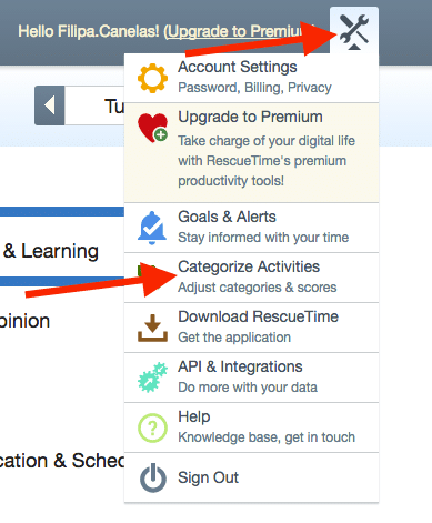 categorize activities in rescue tiime