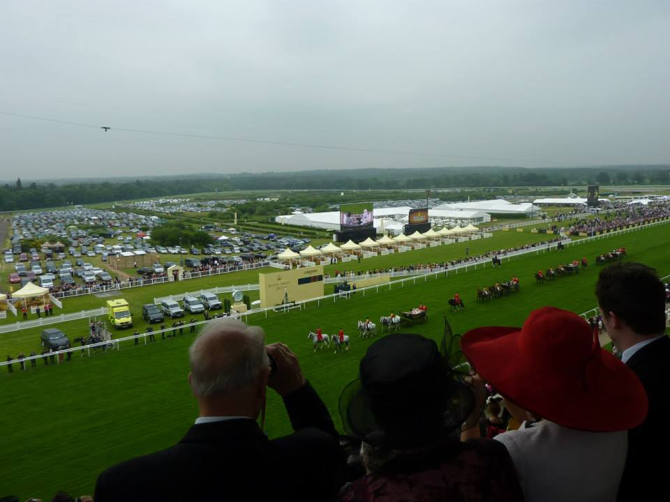 The Queen arrives down the Royal Ascot straight