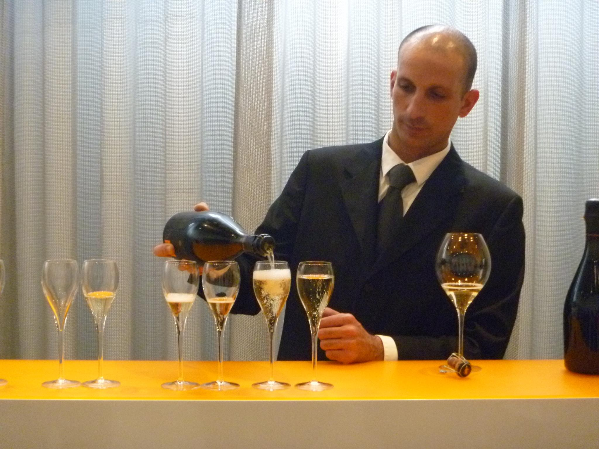 Tasting La Grande Dame at Veuve Clicquot. Photo by Natalie Potter.