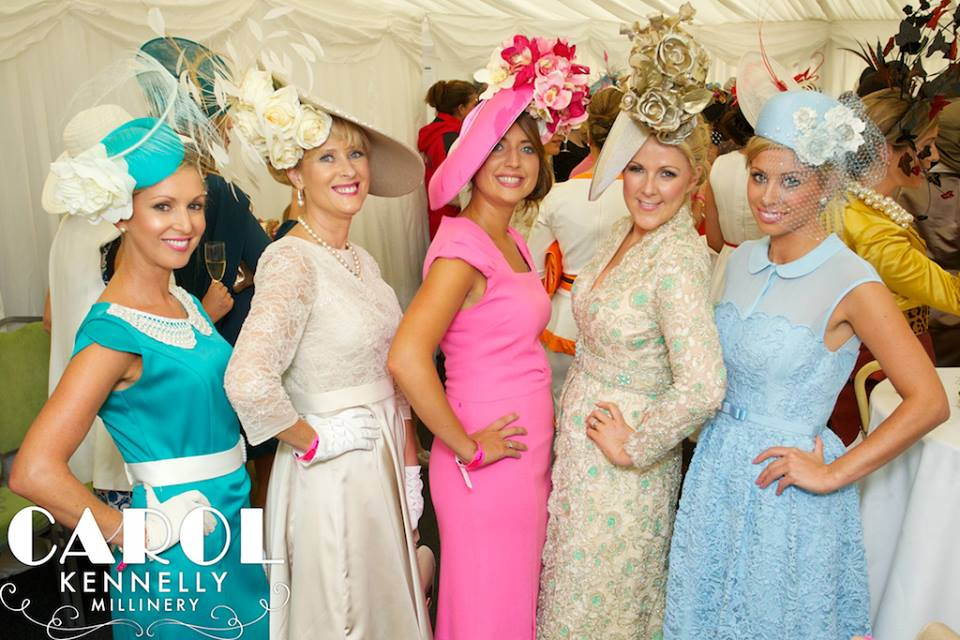 The five Best Dressed Lady finalists. Photo from www.facebook.com/carolkennellymillinery