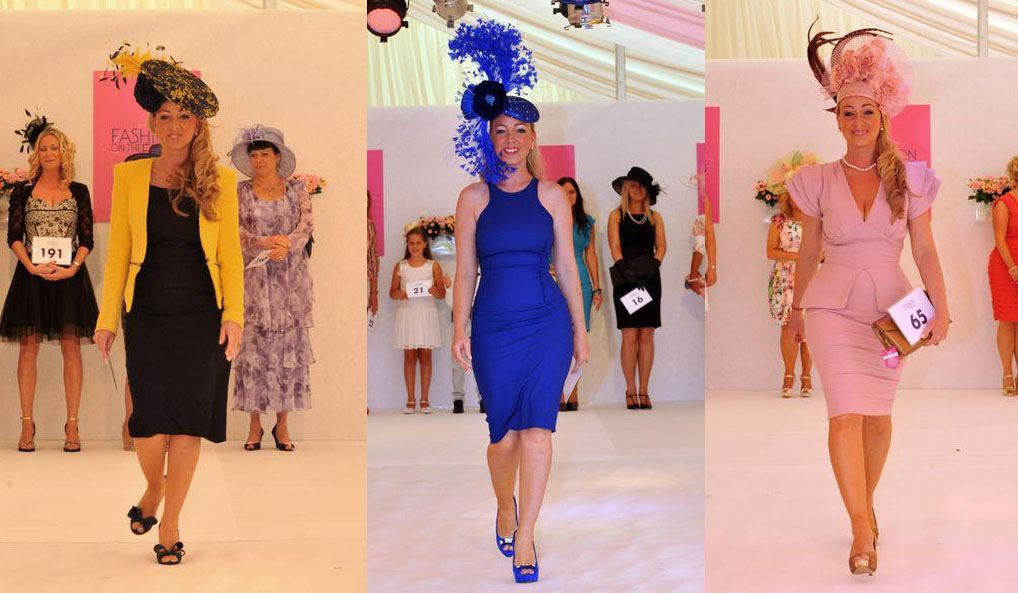 While Michelle Foley wore two different outfits for the first two days, she rewore her sister's Thursday outfit on Saturday - the same ensemble Faye Cupitt wore to victory at Newmarket and Newcastle. Photos from fashiononthefield.co.uk.