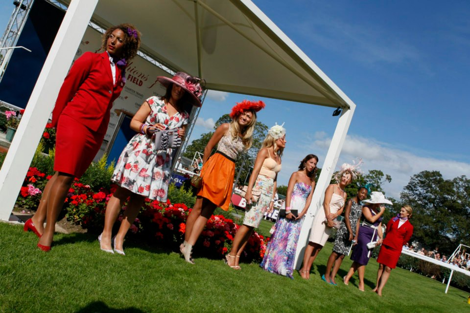 The finalists for Newbury Racecourse's Best Dressed Lady, 2012. Photo by The Racecourse Newbury.