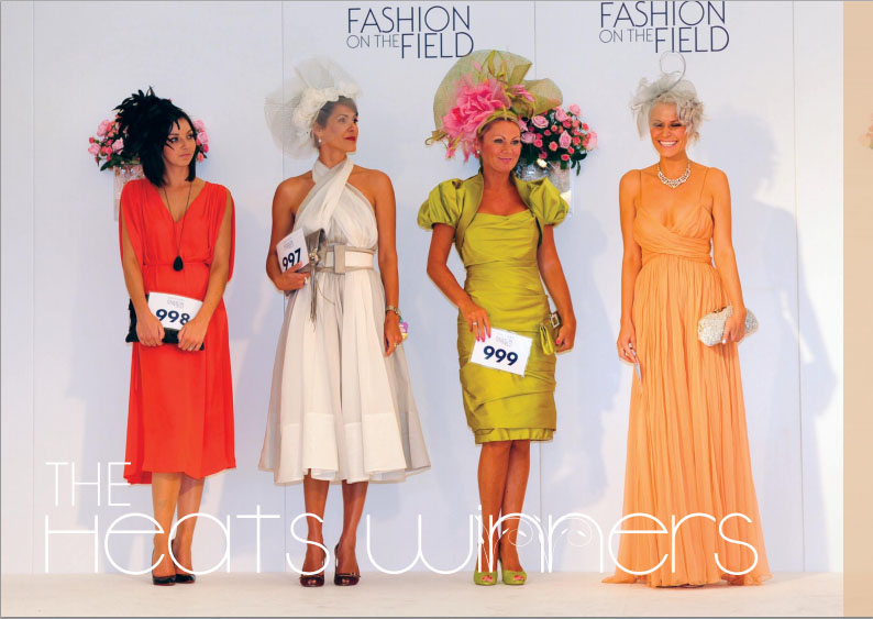 The finalists from Fashion on the Field 2011, with winner Victoria Bailey on the far right. Photo from fashiononthefield.co.uk.
