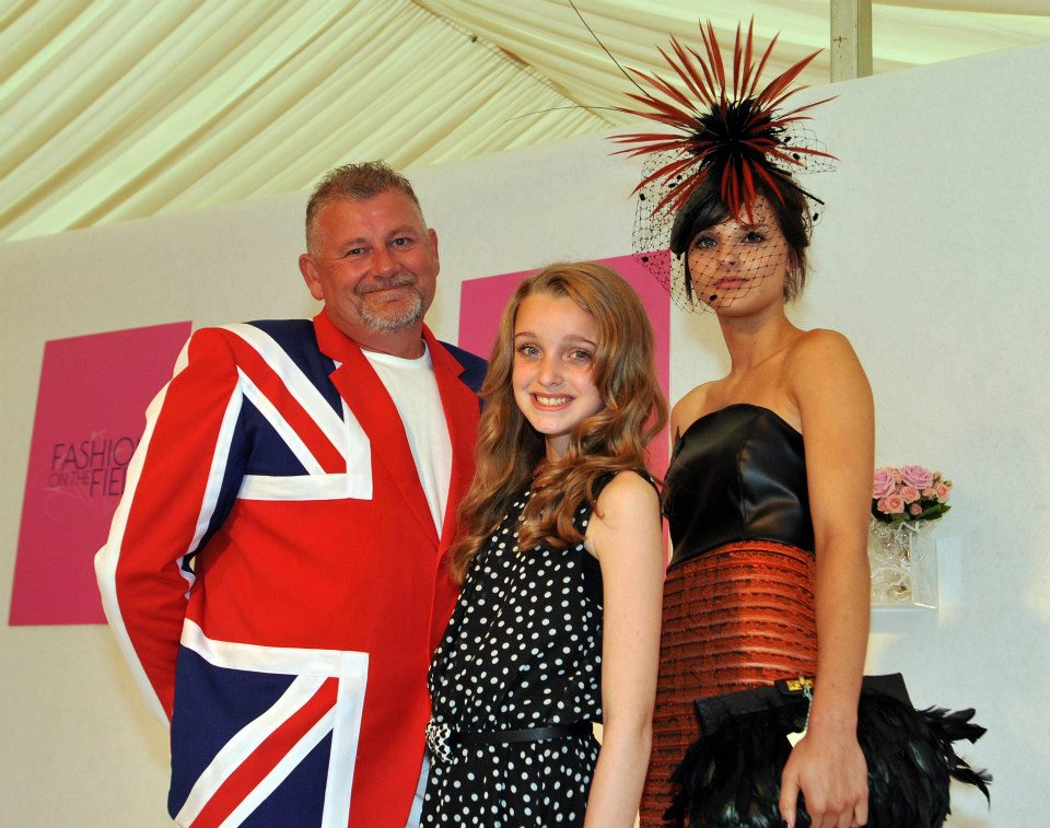 Model Faye Cupitt (right) wins Fashion on the Field at York, 2012.