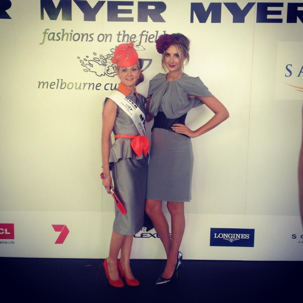 SA winner Jennifer Marsh in a dress she bought online and a headpiece she made herself. Photo from VRC.