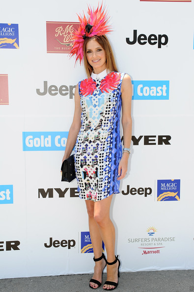 Kate Waterhouse in Peter Pilotto at the 2013 Magic Millions raceday. Photo from zimbio.com.